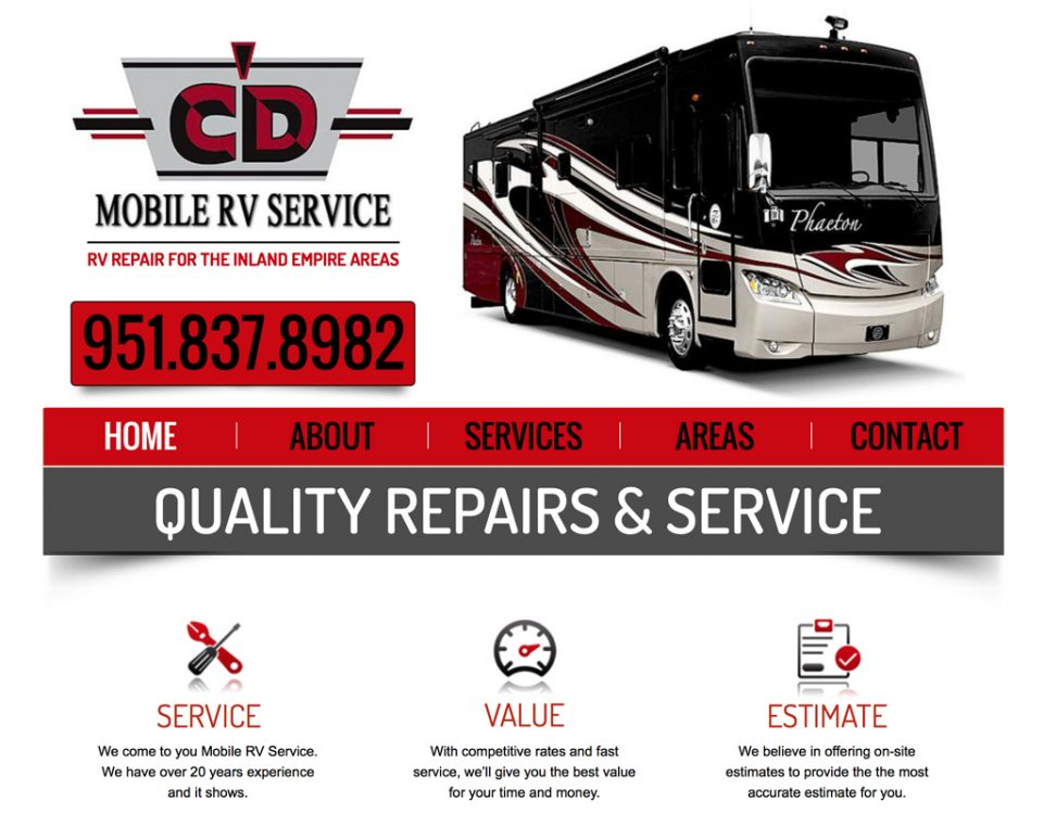RV Service Web Design