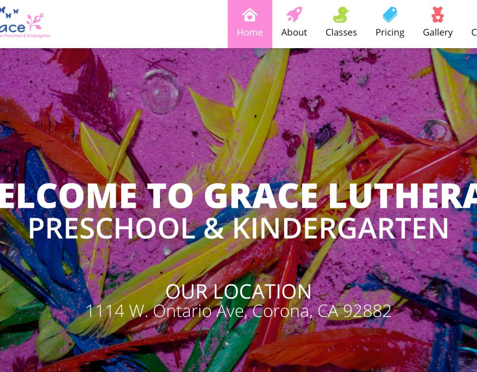 Grace Luther Kindergarten and preschool web design - Advance Your Placement