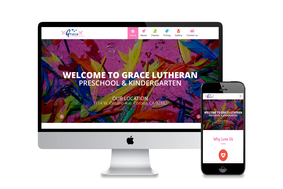 Kindergarten Web design corona