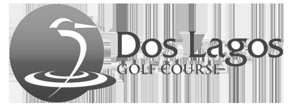 Dos Lagos Golf Course logo Black and white