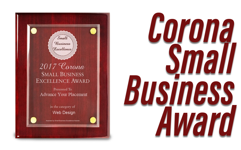 Corona Small Business Award - Advance Your Placement Corona Ca
