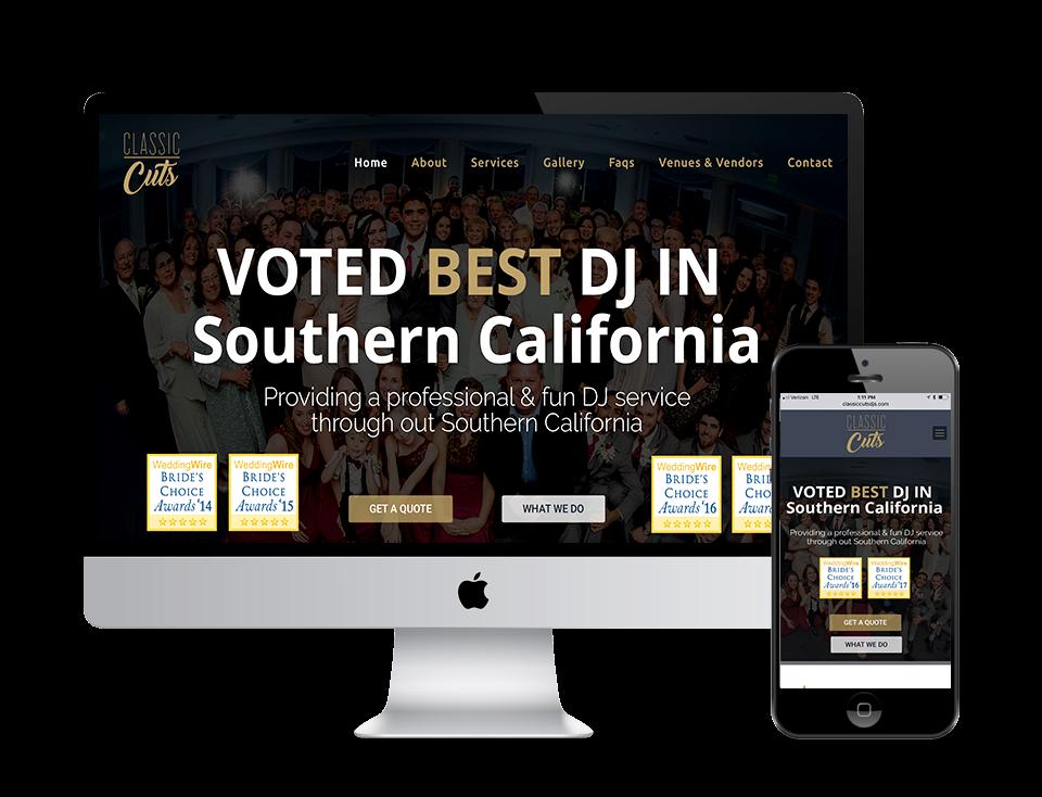 Classic Cuts DJ Web design corona