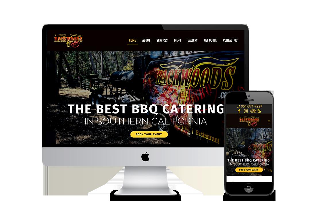 Backwood BBQ Catering Web Design Corona