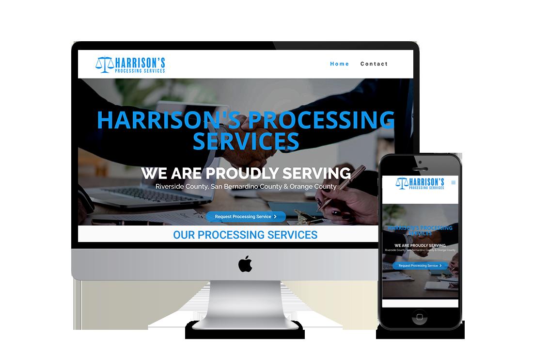 Processing Service Web Design Corona