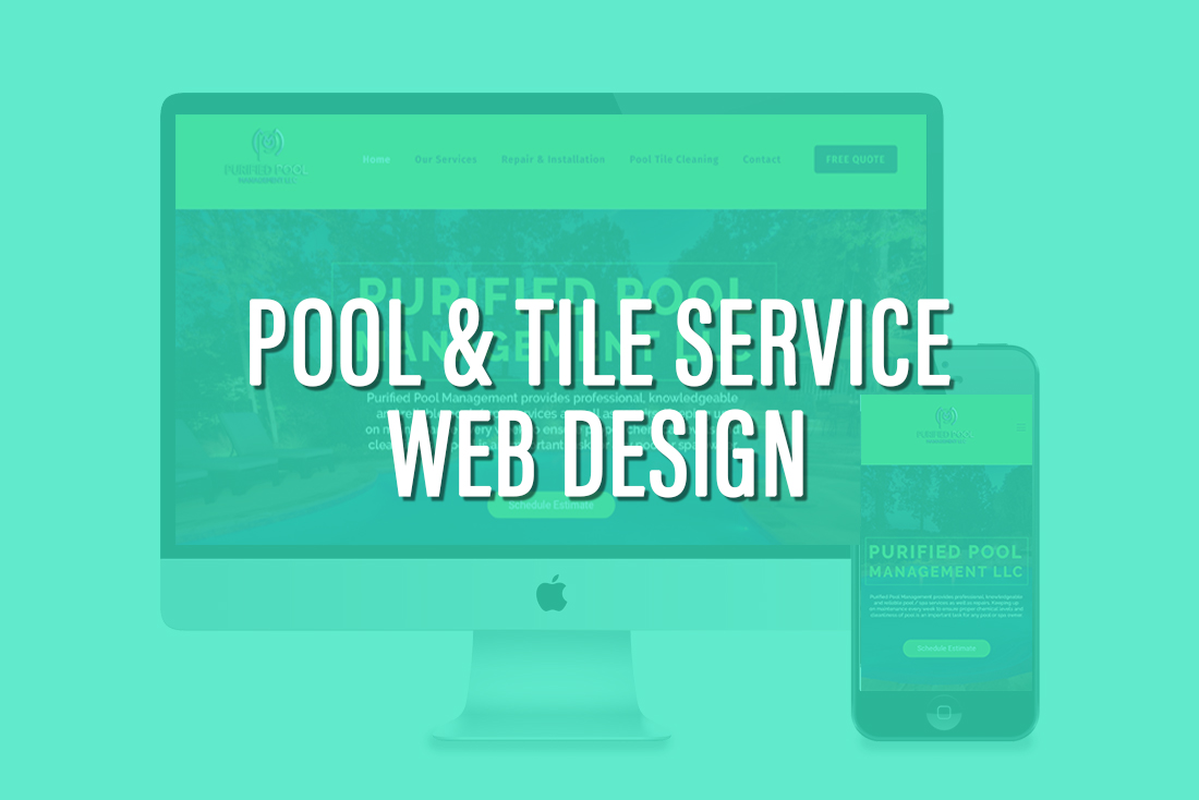 Pool Service web design corona